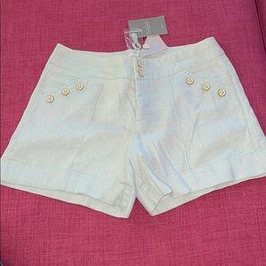 Anthropologie Cidra Brand Linen Shorts Pale Green